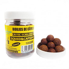 Boilies Claumar Fishmeal De Carlig Critic Echilibrat Squid&Capsuni 100gr